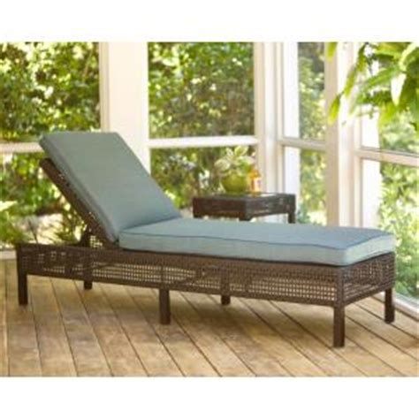 hton bay fenton adjustable patio chaise lounge with