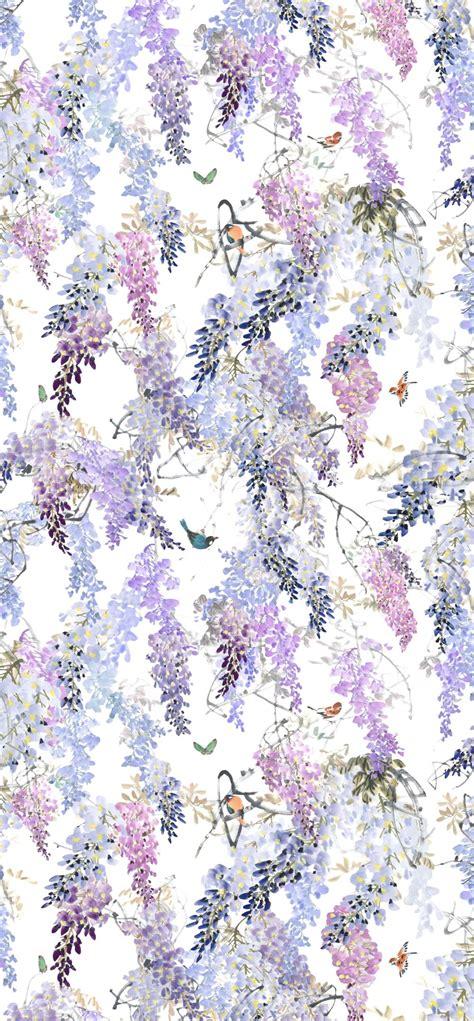 wisteria falls panel   sanderson lilac mural