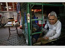 Dark Side of Hong Kong Boom Displayed by Poor in Cages