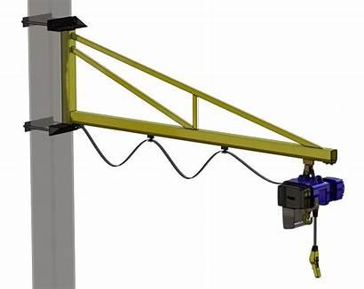 Crane Jib Wall Column Mounting Bracket Cranes
