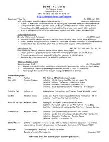 producer resume exles resume for producers sales producer lewesmr