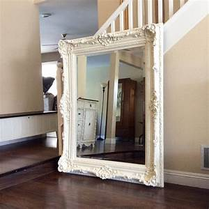 Gorgeous ornate mirror for sale large white