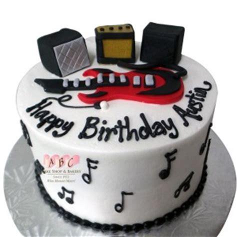 rock  roll  birthday cake  guitar abc
