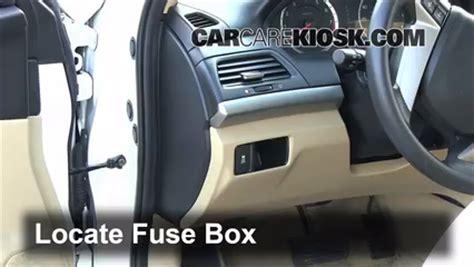 interior fuse box location   honda accord