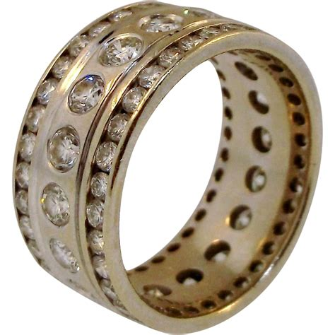 Camelot Augusta 14K Gold and Diamond Eternity Ring SOLD on