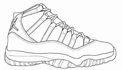 Coloring Jordan Shoes Shoe Pages Nike Sneaker
