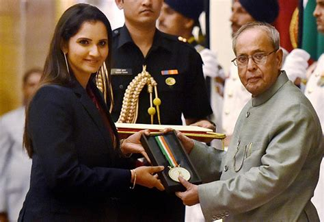sania mirza conferred khel ratna arjuna awards   rediff sports