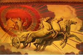 The Quadriga was a four-horse chariot first driven by the Titan god      Isles Of The Blessed Greek Mythology