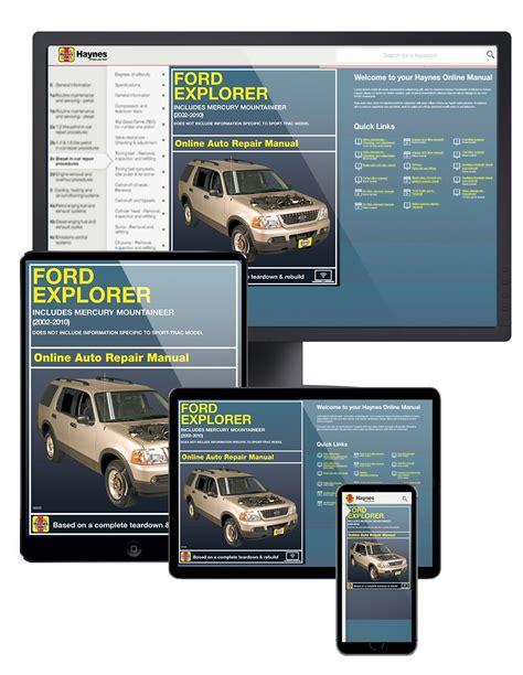 auto repair manual free download 2010 ford explorer sport trac electronic valve timing ford explorer 2002 2010 car repair manuals haynes manuals