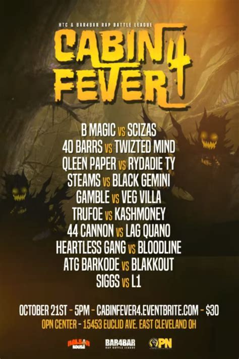 cabin fever 4 cabin fever 4 bar4bar rap battle league battle rap