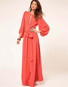 Miss Sixty Miss Sixty Maxi Dress with Sleeves in Pink ...
