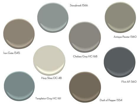 coolest gray paint colors ideas with benjamin