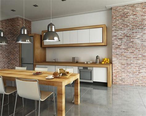 cuisine brique cuisine en brique ou blanche 36 idées ultra tendance