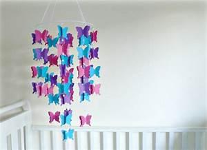 Schmetterlinge Aus Papier : baby mobile selber basteln aus papier ideen und anleitung ~ Lizthompson.info Haus und Dekorationen