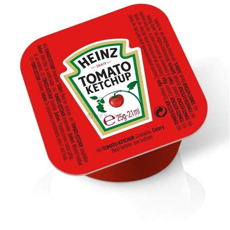 Heinz Tomato Ketchup porties in cups dippot 100x21ml ...