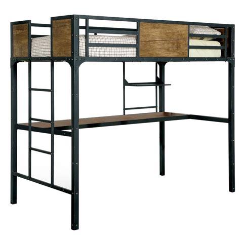furniture  america baron twin loft bed  black idf