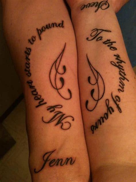 matching tattoos  couples inkdoneright