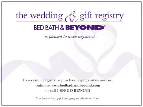 bed bath and beyond registry wedding