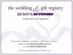 Bed bath and beyond registry wedding