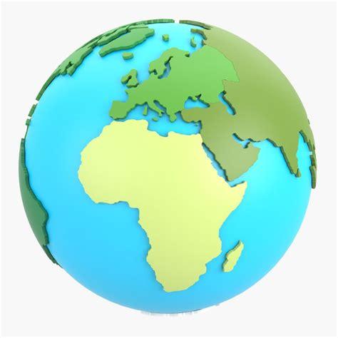 world continents turbosquid