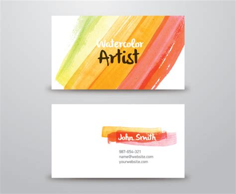Watercolor Artist Business Card Vector Art & Graphics Business Card Scanner Ios Github Consulting Templates Free Template Word Pdf Lularoe Insightly In Pakistan Microsoft Apply To All Network