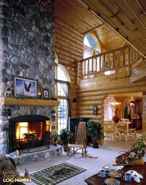 houses with fireplaces golden eagle log and timber homes log home cabin
