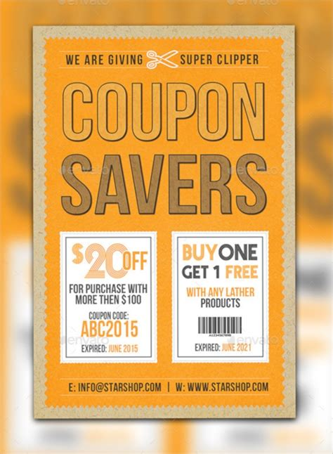 coupon flyers psd ai vector eps