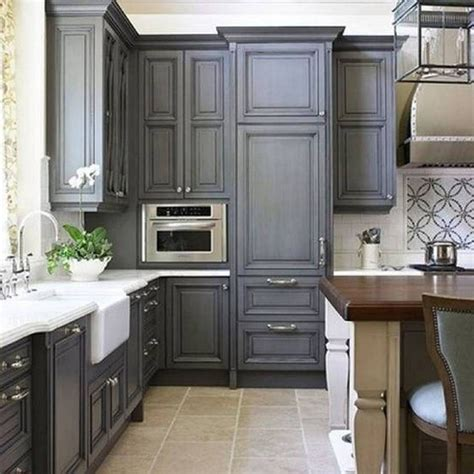 Stylish And Cool Gray Kitchen Cabinets For Your Home. White Kitchen With Black Glass Splashback. Ikea Ideas For Small Kitchens. Kitchen Countertop Ideas. Coffee Kitchen Decor Ideas. Kitchen Floor Tiles White. White Kitchen With Oak Worktops. Kitchen Living Room Ideas. Cathedral Ceiling Kitchen Lighting Ideas