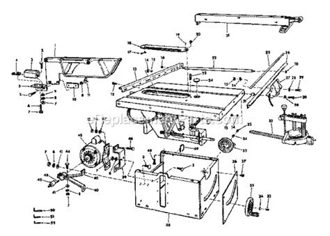 craftsman 10 table saw parts craftsman 113241691 parts list and diagram