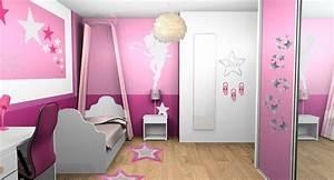 peinture chambre fille rose et blanc With peinture chambre fille rose violet