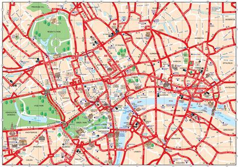 Carte De Touristique à Imprimer by Plan Et Carte Touristique De Londres Monuments Et Circuits
