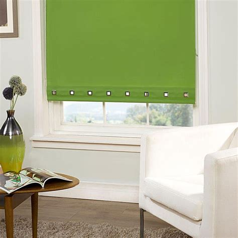 lime green kitchen blinds lime green colour square eyelet roller blinds 7091