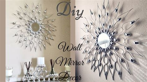 Cut off the handles and layer the scoops around a mirror for an inexpensive way to create a statement piece for any room in the house. Diy Quick and Easy Glam Wall Mirror Decor  Wall Decorating Idea! - YouTube