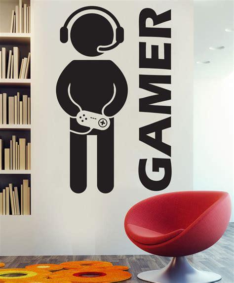 stickers chambre gar輟n aliexpress com acheter vidéo jeu gaming gamer mur decal décor autocollant vinyle stickers muraux pour les garçons chambre de vinyle