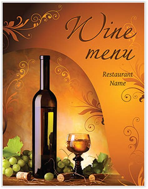 wine menu template design id  smiletemplatescom