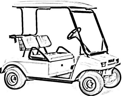 golf cart cartoon drawing  getdrawingscom