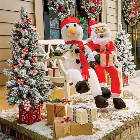 stuffable lighted santa claus  snowman decoration