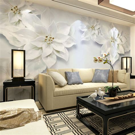 10 Living Room Designs With Wall Murals by 41 Living Room Wallpaper Murals 3d Mural Wallpaper