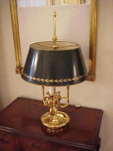 baldwin brass french bouillotte  trumpet lamp tole