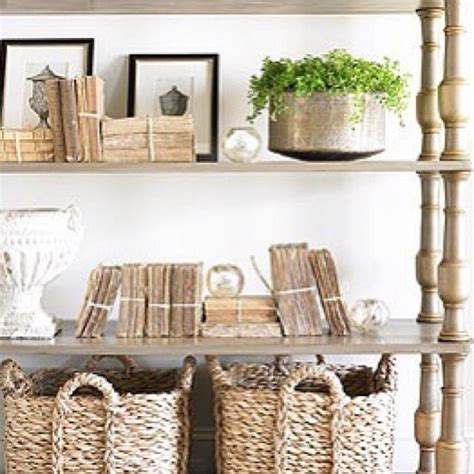 interior design pictures home decorating photos neutral styling wicker wood baskets greenery