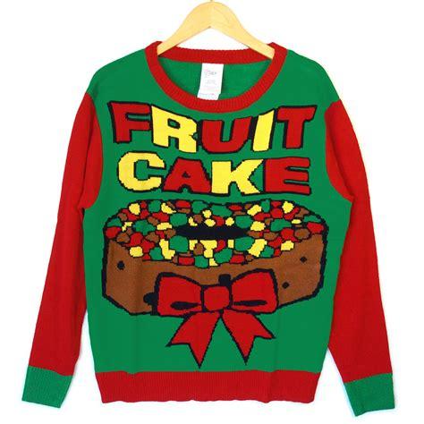 igly sweater fruitcake tacky sweater the sweater shop