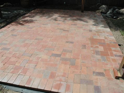 brick patio how to lay a brick paver patio how tos diy