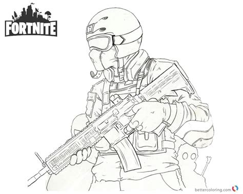Fortnite Coloring Pages Fanart Character Drawing