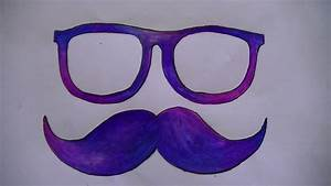 Como dibujar/pintar gafas y mostacho YouTube