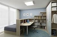 bedroom office ideas Bedroom & home office combo- divided with bookcase.   Home ...