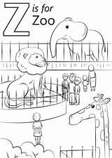 Coloring Zoo Printable sketch template