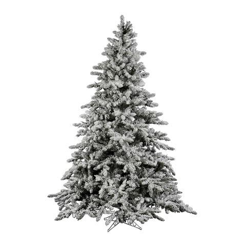 9 foot flocked utica fir christmas tree unlit a895180