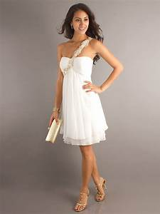 short strapless wedding guest dress with one With gowns for wedding guest