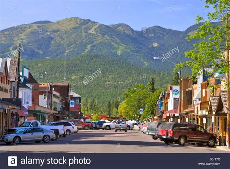 Canoes Lethbridge by Downtown Whitefish Montana Stock Photo Royalty Free