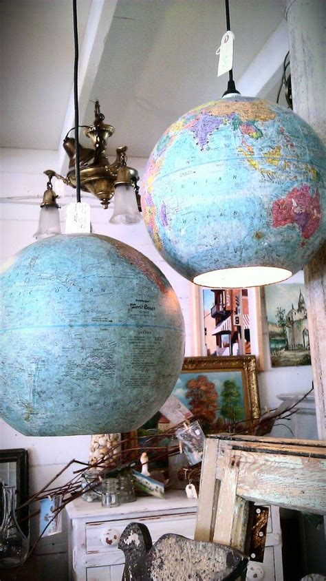 repurposed globe ceiling light steam office